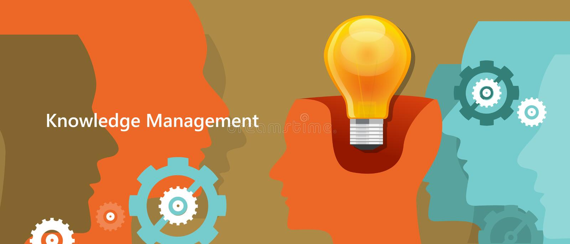 Λαμπτήρας ιδέας διοικητικής έννοιας γνώσης μέσα στον εγκέφαλο απεικόνιση αποθεμάτων