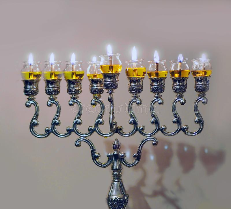 Λαμπτήρας Hanukkah στοκ εικόνες