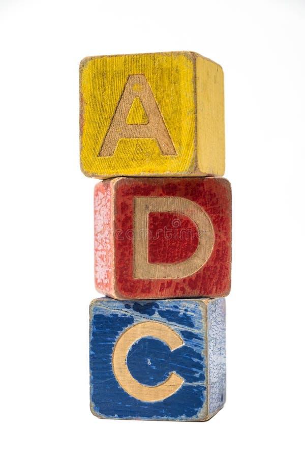 Λανθασμένη ορθογραφία ABC έννοιας δυσλεξίας της ΠΑΧ στοκ εικόνα