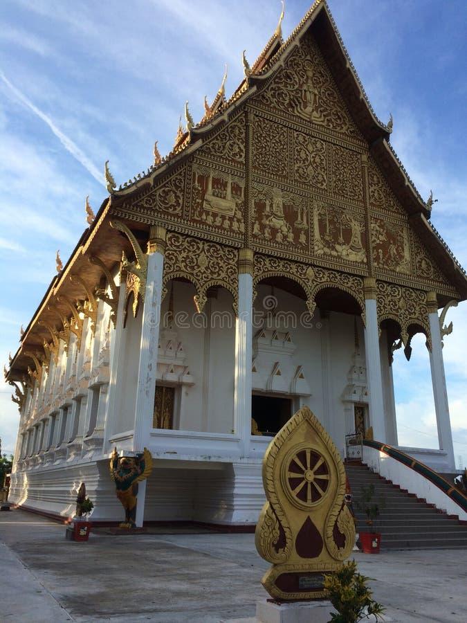 Λαοτιανός βουδιστικός ναός στοκ φωτογραφία με δικαίωμα ελεύθερης χρήσης