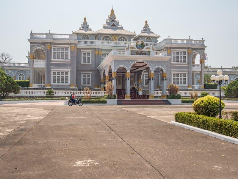 Λαοτιανό προεδρικό παλάτι Λάος vientiane στοκ εικόνα με δικαίωμα ελεύθερης χρήσης