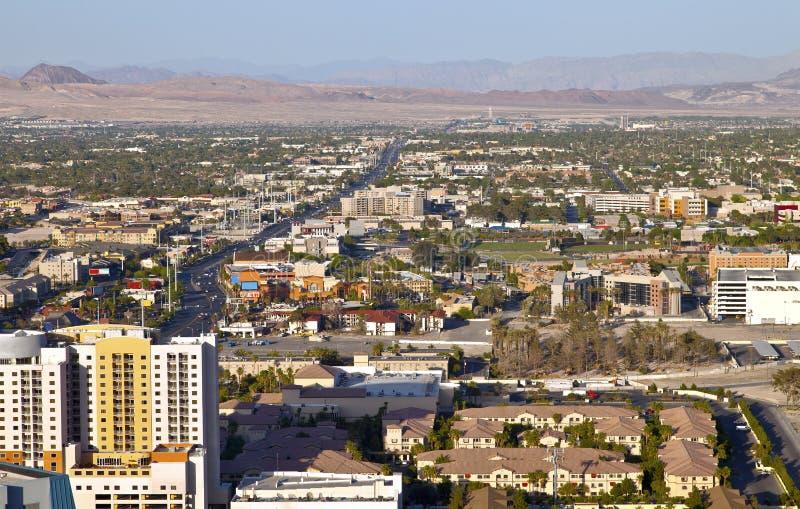Λας Βέγκας Νεβάδα ένα κατοικημένο τοπίο. στοκ εικόνες