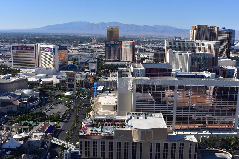 Λας Βέγκας, Νεβάδα - ΗΠΑ - 05.2017 Ιουνίου - ορίζοντας Vegas πόλεων στοκ εικόνες