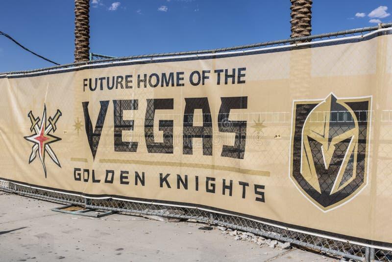 Λας Βέγκας - τον Ιούλιο του 2017 Circa: Vegas η χρυσή δυνατότητα πρακτικής ιπποτών νέα, οι ιππότες είναι η πιό πρώην ομάδα Ι επέκ στοκ εικόνες
