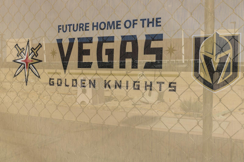 Λας Βέγκας - τον Ιούλιο του 2017 Circa: Vegas η χρυσή δυνατότητα πρακτικής ιπποτών νέα, οι ιππότες είναι η πιό πρώην ομάδα ΙΙ επέ στοκ εικόνες με δικαίωμα ελεύθερης χρήσης