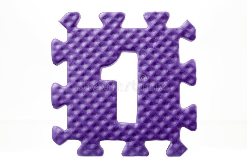 Λαστιχένιος γρίφος με τον αριθμό 1 στοκ εικόνες