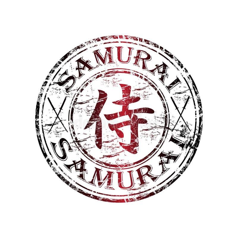 λαστιχένιο γραμματόσημο Σαμουράι απεικόνιση αποθεμάτων