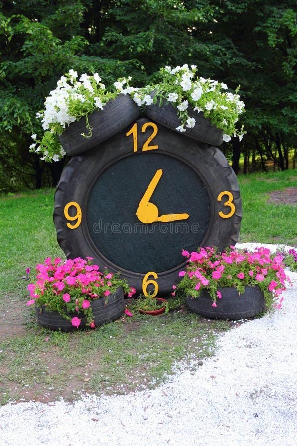 Λαστιχένιο ρολόι στοκ εικόνες