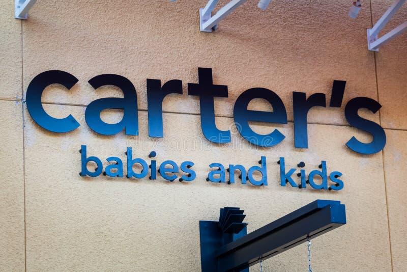 ΛΑΣ ΒΈΓΚΑΣ, ΝΕΒΑΔΑ - 22 Αυγούστου 2016: Λογότυπο του Carter στο κατάστημα FR στοκ φωτογραφία με δικαίωμα ελεύθερης χρήσης