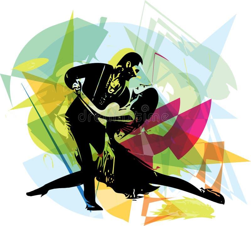 Λατίνο χορεύοντας ζεύγος ελεύθερη απεικόνιση δικαιώματος