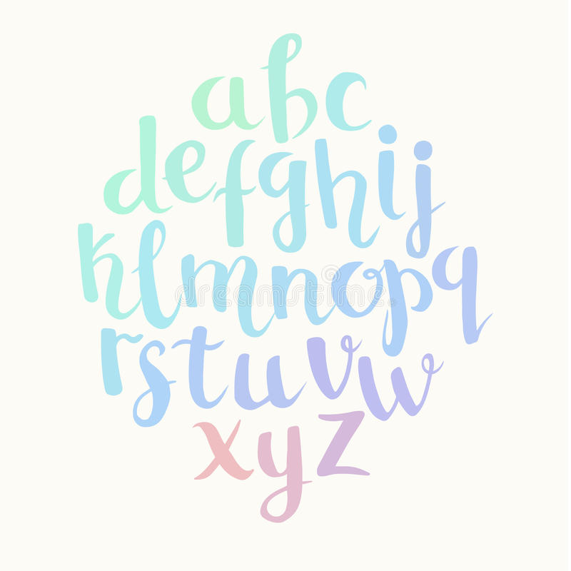 Λατινικό αλφάβητο εγγραφής ελεύθερη απεικόνιση δικαιώματος