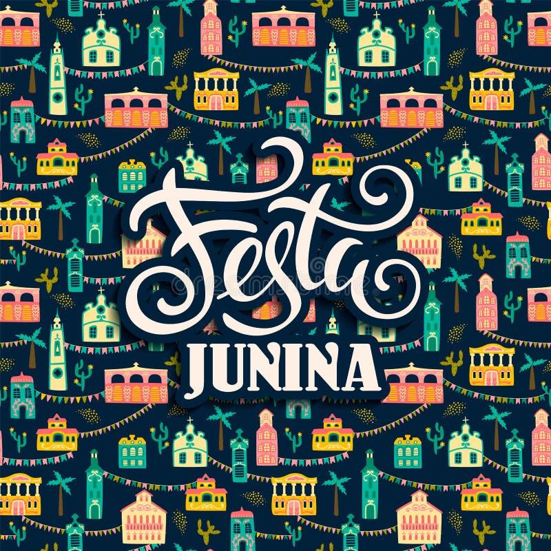 Λατινοαμερικάνικες διακοπές, το κόμμα Ιουνίου της Βραζιλίας Festa Junina r απεικόνιση αποθεμάτων