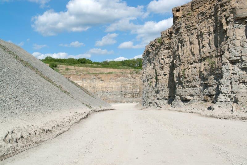 Λατομείο αμμοχάλικου στοκ φωτογραφία με δικαίωμα ελεύθερης χρήσης