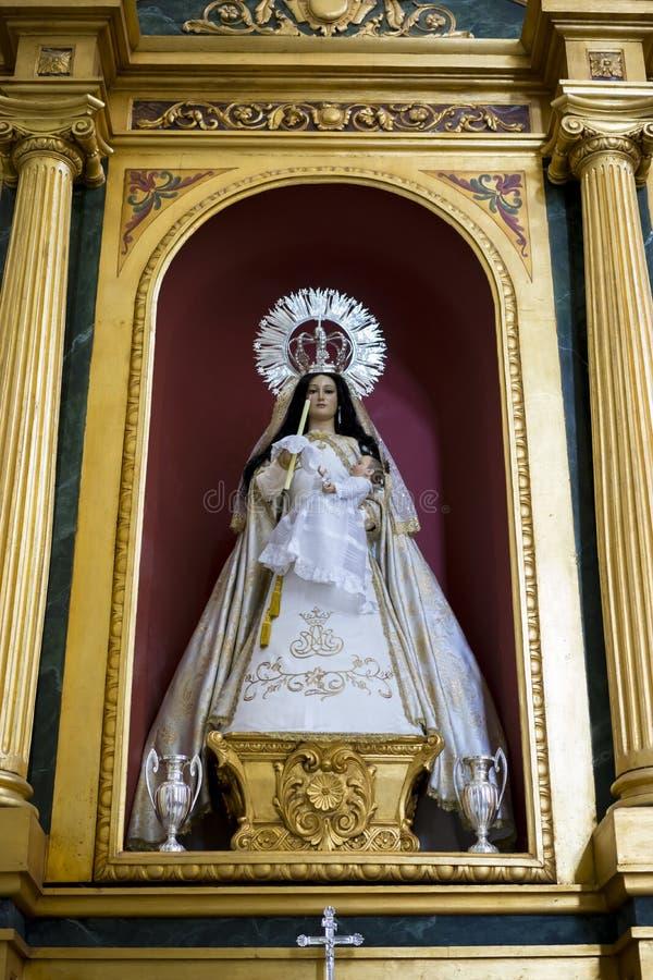 Λατρεία, ιερή εβδομάδα στην Ισπανία, εικόνες των virgins και του representatio στοκ φωτογραφίες με δικαίωμα ελεύθερης χρήσης