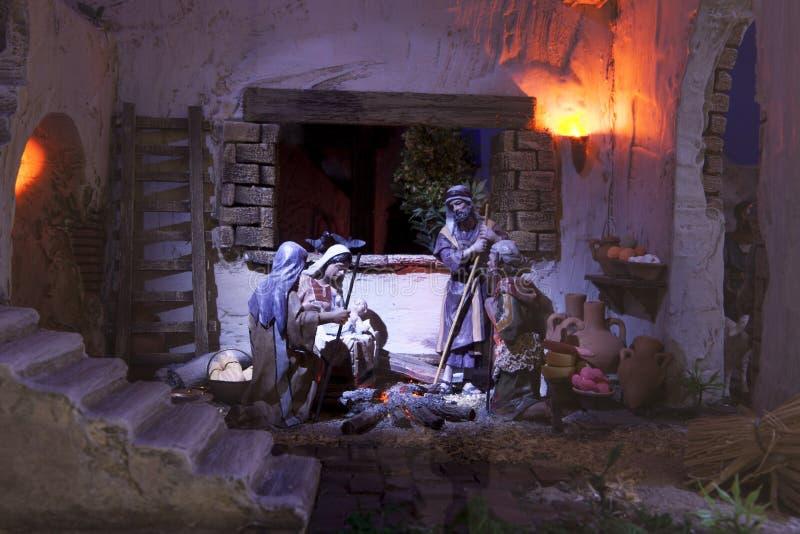 Λατρεία ποιμένων Φάτνη Χριστουγέννων στοκ φωτογραφίες με δικαίωμα ελεύθερης χρήσης