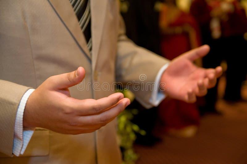 λατρεία χεριών στοκ εικόνα