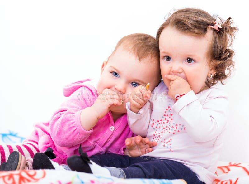 Λατρευτά μωρά στοκ φωτογραφία με δικαίωμα ελεύθερης χρήσης
