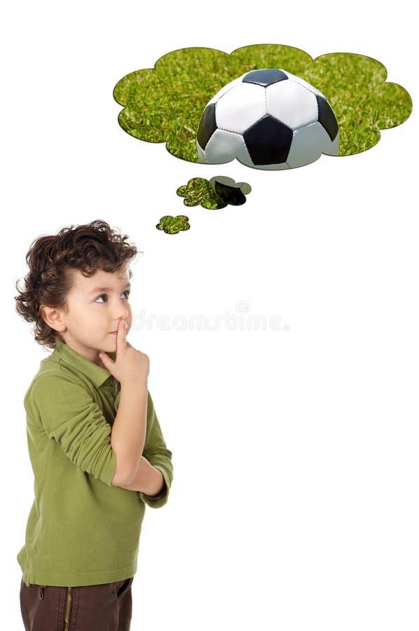 λατρευτή σκέψη αγοριών στοκ φωτογραφία