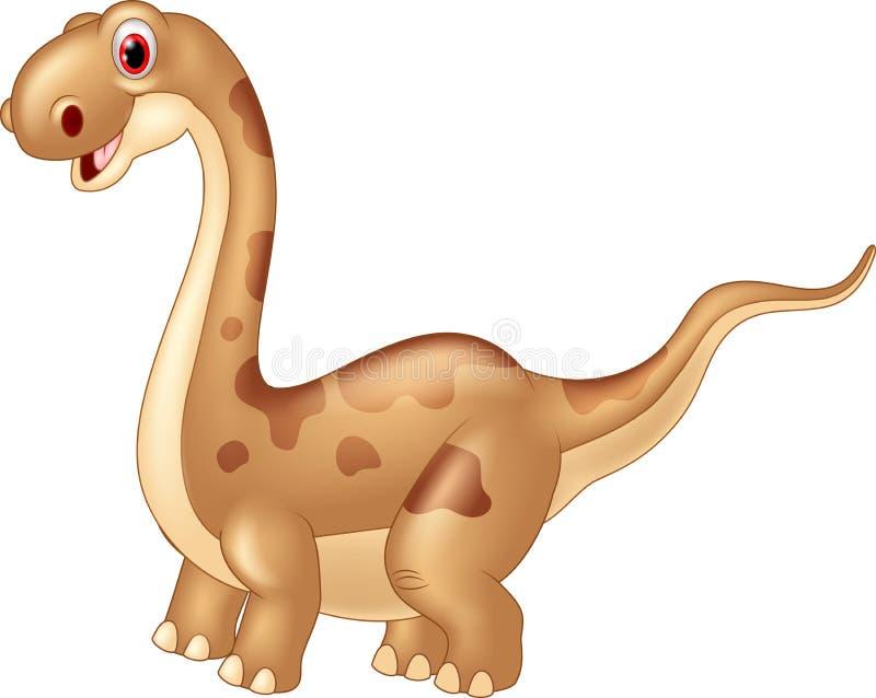 Λατρευτός χαριτωμένος δεινόσαυρος απεικόνιση αποθεμάτων