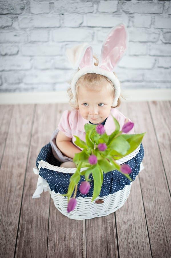 Λατρευτό λαγουδάκι μωρών στοκ εικόνες