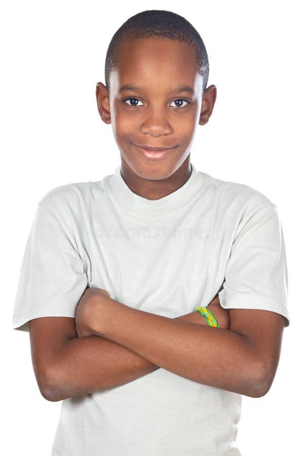 λατρευτό αφρικανικό αγόρι στοκ εικόνα