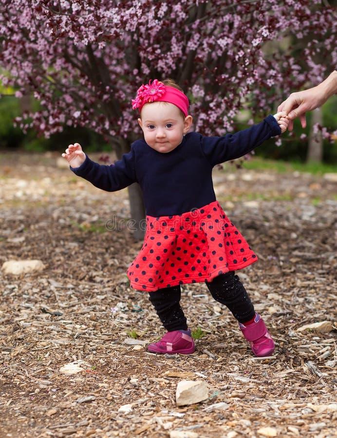 Λατρευτό χέρι πατέρων ` s εκμετάλλευσης κοριτσάκι στοκ φωτογραφίες με δικαίωμα ελεύθερης χρήσης