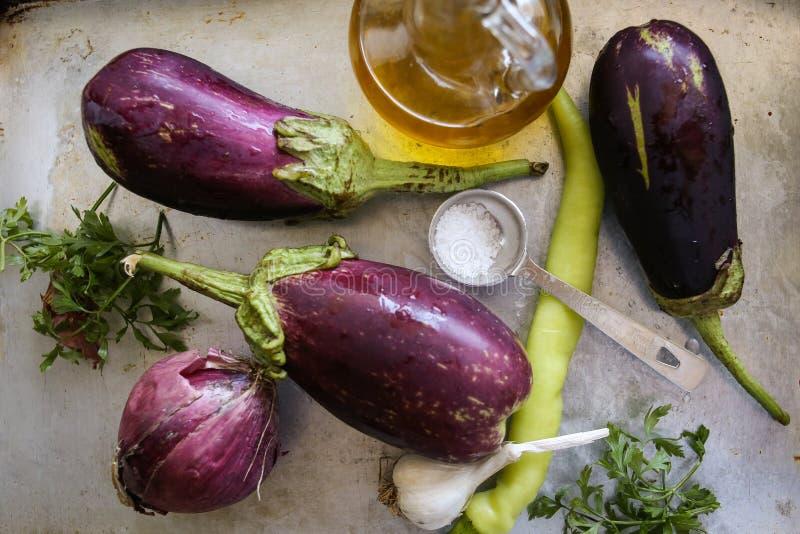 Λαχανικά για τον μπαμπά ganoush στοκ εικόνες με δικαίωμα ελεύθερης χρήσης