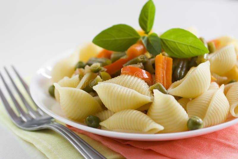 λαχανικά ζυμαρικών στοκ εικόνα
