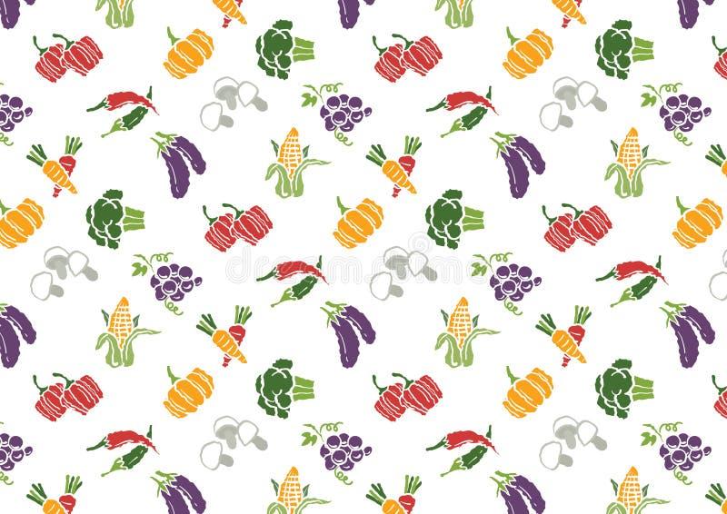 Λαχανικά και εικονίδια φρούτων καθορισμένα και σχέδιο σημαδιών απεικόνιση αποθεμάτων