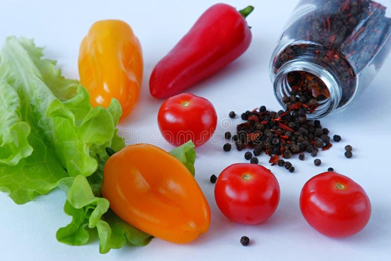 Λαχανικά και μπιζέλια πιπεριών στοκ φωτογραφία