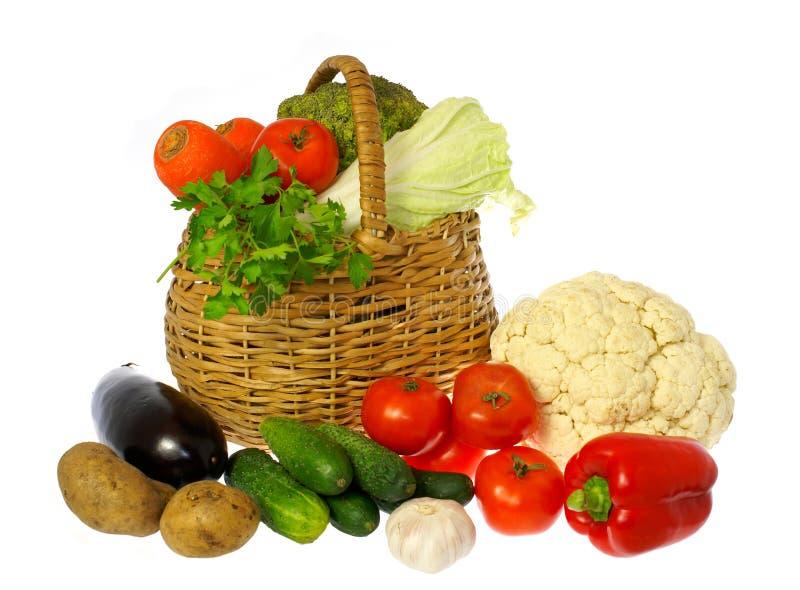 λαχανικά καλαθιών στοκ εικόνες