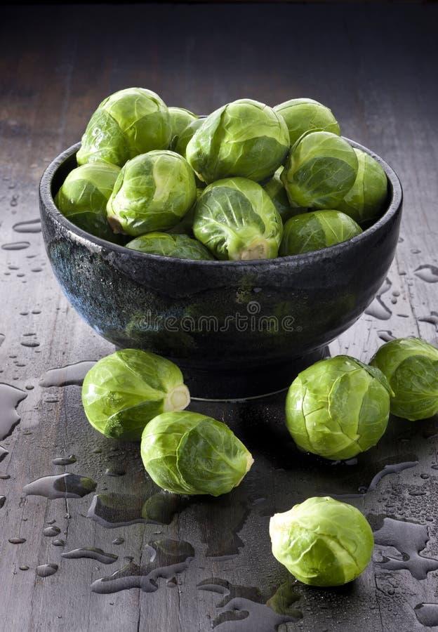 Λαχανικά νεαρών βλαστών των Βρυξελλών στοκ εικόνες