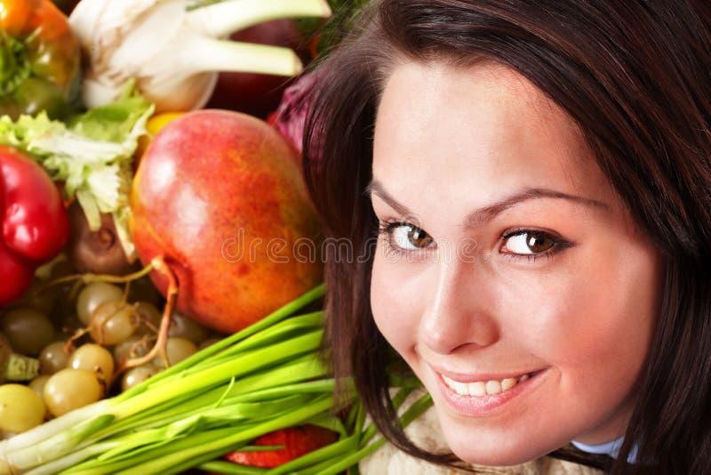 λαχανικά ομάδας κοριτσιώ στοκ φωτογραφίες