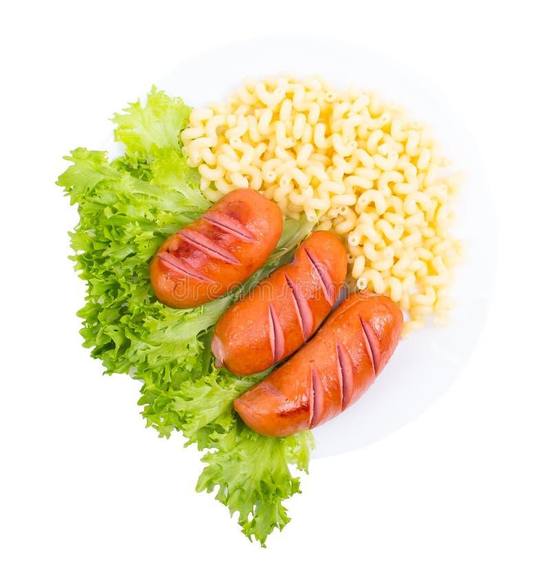 Λαχανικά, λουκάνικα, πράσινα στοκ εικόνα