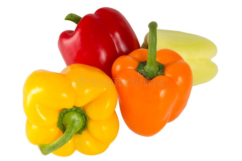 λαχανικά προϊόντων φρέσκιας αγοράς γεωργίας Γλυκό κόκκινο, κίτρινο, πράσινο, πορτοκαλί πιπέρι, που απομονώνεται στο άσπρο υπόβαθρ στοκ φωτογραφίες με δικαίωμα ελεύθερης χρήσης