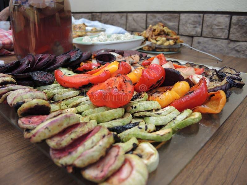 Λαχανικά στη σχάρα στοκ εικόνες
