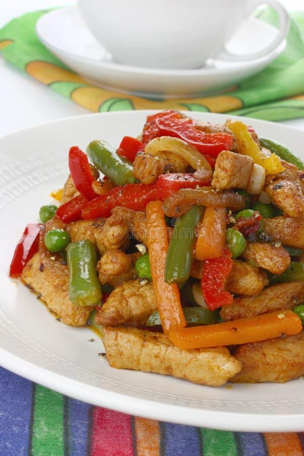 λαχανικά χοιρινού κρέατο&sig στοκ εικόνες με δικαίωμα ελεύθερης χρήσης
