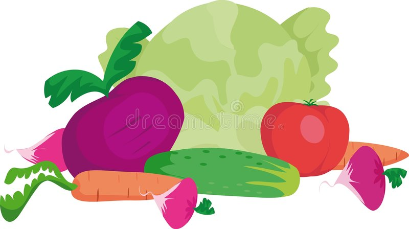 λαχανικά διανυσματική απεικόνιση