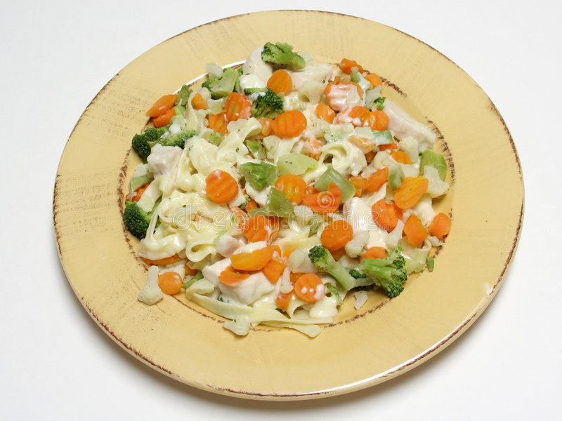 λαχανικά fettucine στοκ φωτογραφία