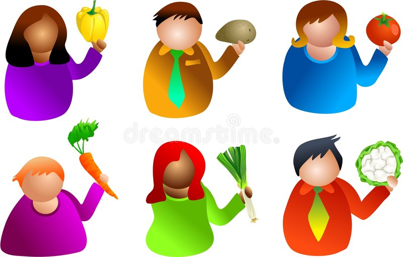 λαχανικό ανθρώπων διανυσματική απεικόνιση