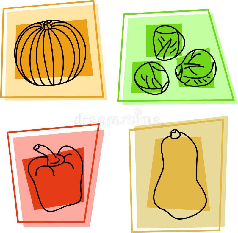 λαχανικό εικονιδίων ελεύθερη απεικόνιση δικαιώματος