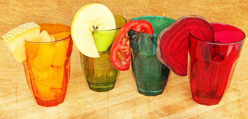 Λαχανικό και φρούτα για το φρέσκους χυμό και τις σαλάτες στοκ εικόνες