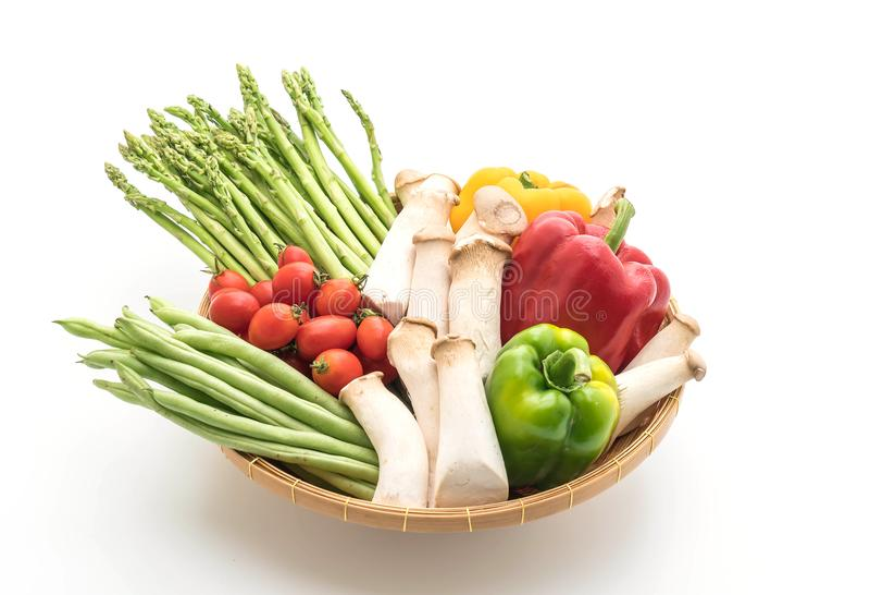 Λαχανικό μιγμάτων στο καλάθι στοκ εικόνα με δικαίωμα ελεύθερης χρήσης