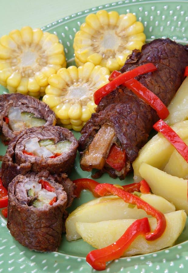 λαχανικό μπριζόλας βόειου κρέατος στοκ εικόνα