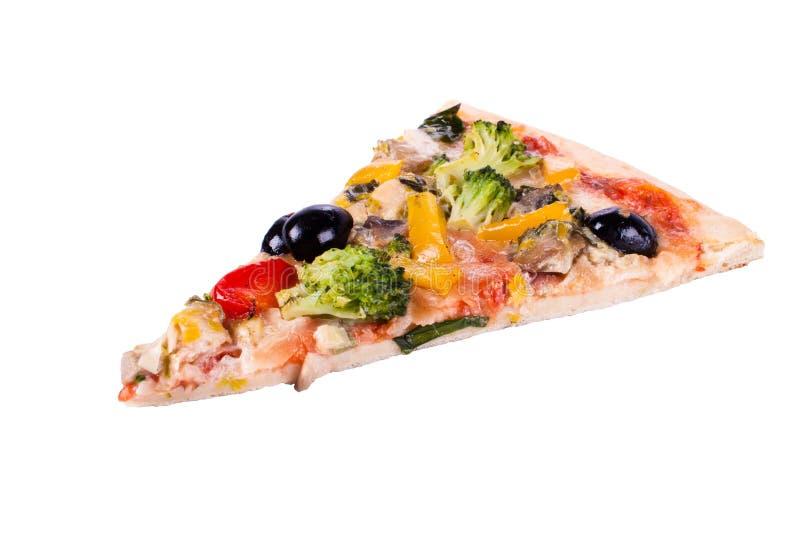 λαχανικό πιτσών κομματιού στοκ εικόνα