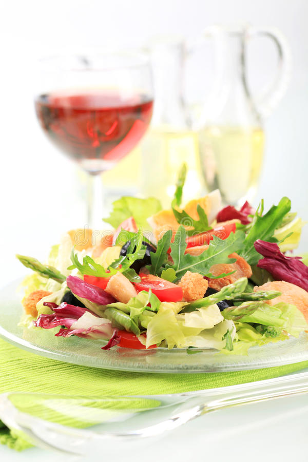 λαχανικό σαλάτας κοτόπο&upsi στοκ εικόνα