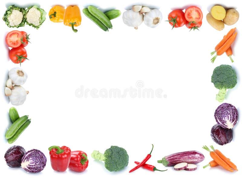 Λαχανικών πλαισίων copyspace φρέσκο κουδούνι ντοματών συνόρων αντιγράφων διαστημικό στοκ εικόνες