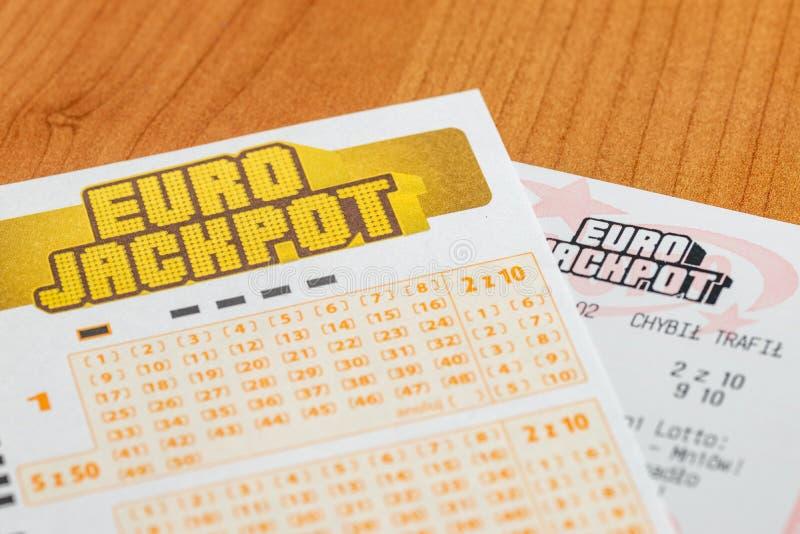 Λαχείο Euro JackPot από το πολωνικό Lotto στοκ εικόνα με δικαίωμα ελεύθερης χρήσης