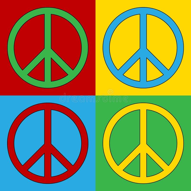 Λαϊκά εικονίδια συμβόλων ειρήνης τέχνης στοκ φωτογραφίες