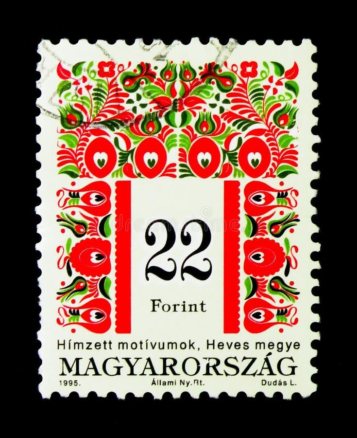 Λαϊκά κίνητρα της κομητείας Heves, ουγγρική λαϊκή τέχνη serie, circa 19 στοκ εικόνα με δικαίωμα ελεύθερης χρήσης